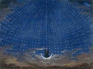 Dekoracje do opery Czarodziejski flet / Karl Friedrich Schinkel / Wikipedia / Biuro projektowe